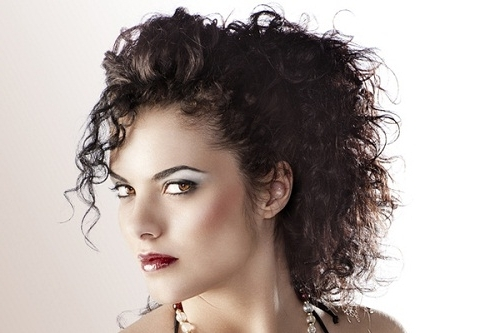 Ponytail Hairstyles For Naturally Curly Hair With Bangs Images – New Throughout Natural Curly Pony Hairstyles With Bangs (View 4 of 25)