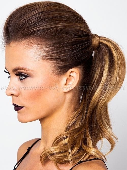 Ponytail Hairstyles – Pouf Ponytail | Trendy Hairstyles For Women Within Glam Ponytail Hairstyles (View 20 of 25)
