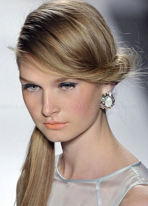 Ponytail Hairstyles – Side Ponytail With Twist | Trendy Hairstyles With Twisted Side Ponytail Hairstyles (View 15 of 25)