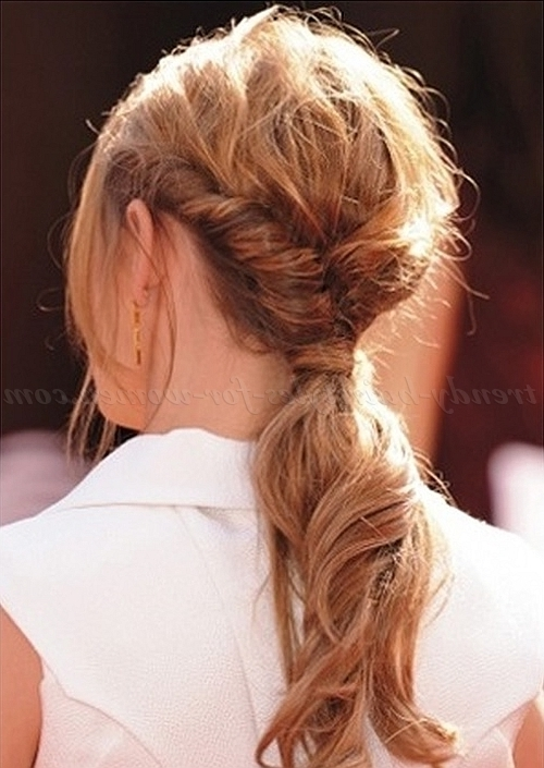 Ponytail Hairstyles – Twisted Ponytail | Trendy Hairstyles For Women Intended For Twisted And Tousled Ponytail Hairstyles (View 4 of 25)