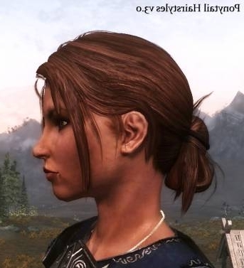 Ponytail Hairstyles V3 0 At Skyrim Nexus – Mods And Community Inside Mod Ponytail Hairstyles (View 8 of 25)
