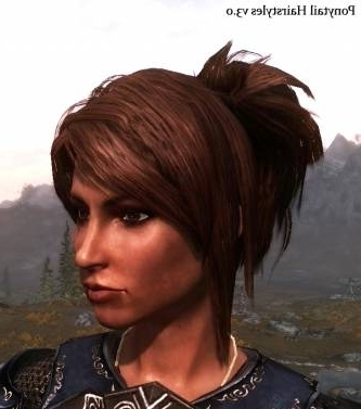 Ponytail Hairstyles V3 0 At Skyrim Nexus – Mods And Community With Regard To Mod Ponytail Hairstyles (View 3 of 25)