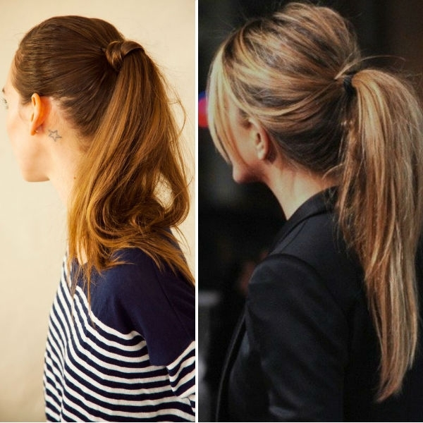 Ponytail Hairstyles Vpfashion In High And Glossy Brown Blonde Pony Hairstyles (View 11 of 25)