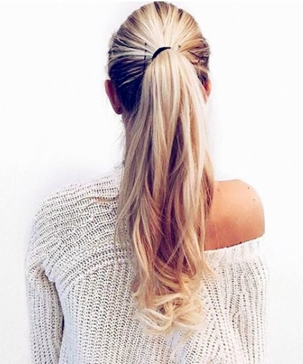 Ponytail Hairstyles Vpfashion Inside Blonde Ponytail Hairstyles With Beach Waves (View 13 of 25)