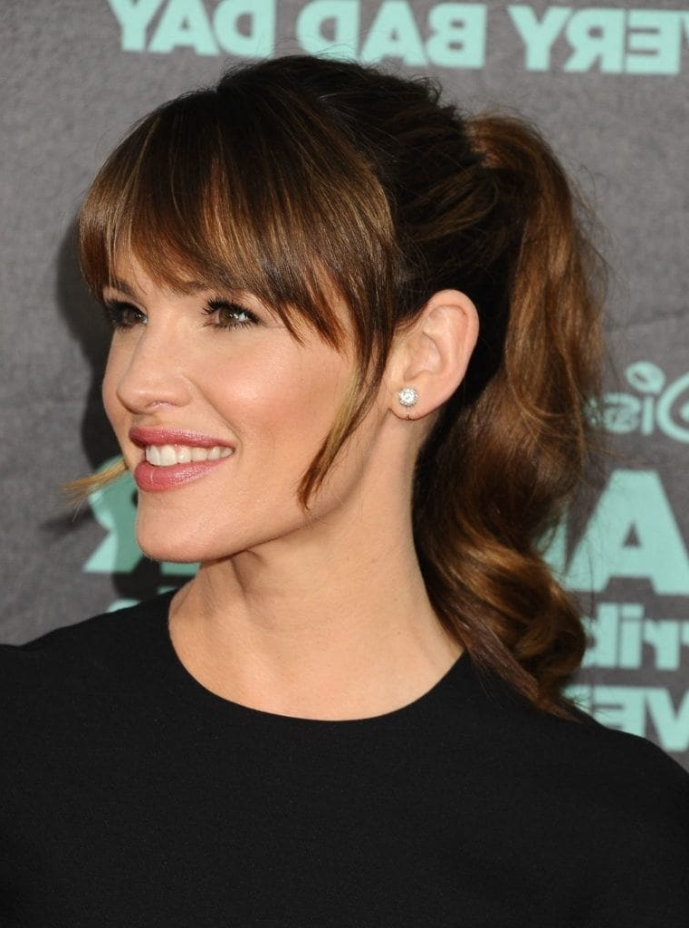Ponytail With Bangs: 7 Fresh New Ways To Wear The Style Regarding High Ponytail Hairstyles With Side Bangs (View 16 of 25)