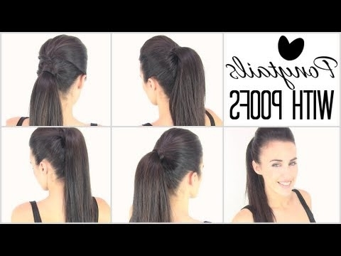 Ponytails With Poof – Youtube Pertaining To Poofy Ponytail Hairstyles With Bump (View 14 of 25)