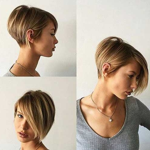 Popular Short Stacked Haircuts You Will Love | Short Hairstyles 2017 With Most Current Stacked Pixie Bob Hairstyles With Long Bangs (View 4 of 25)