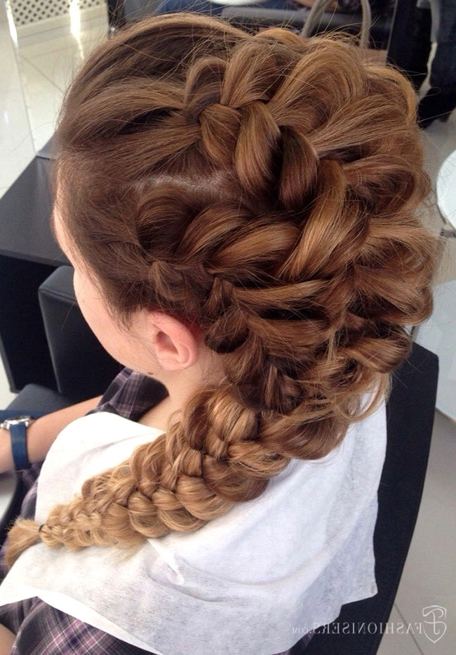Pretty Braided Hairstyles For Prom | Fashionisers Inside Ponytail Hairstyles With Dutch Braid (View 22 of 25)