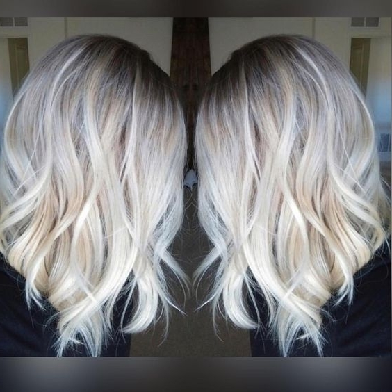 Pretty Everyday Hairstyle For Shoulder Length Hair Platinum Blonde Within Shoulder Length Ombre Blonde Hairstyles (View 20 of 25)