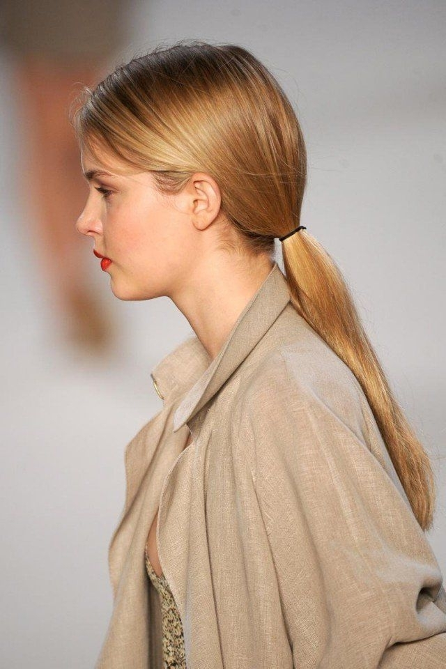 Pretty Low Ponytail Hairstyles For All Women To Try | Laughing Stock Throughout Lively And Lovely Low Ponytail Hairstyles (View 2 of 25)