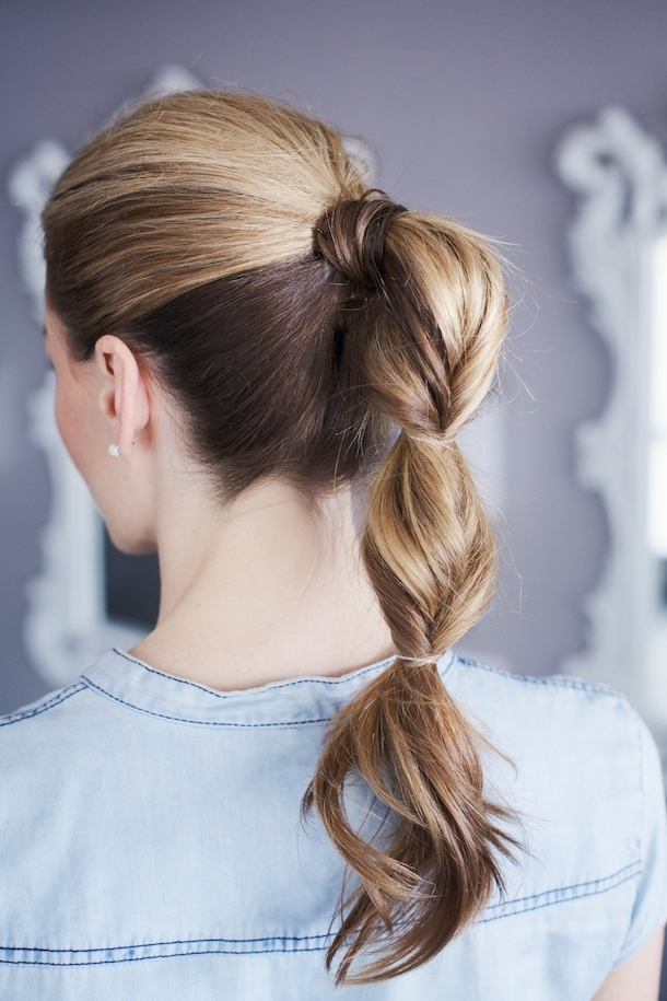 Pretty Simple :: Grown Up Topsy Tail – Camille Styles Within Glossy Twisted Look Ponytail Hairstyles (View 5 of 25)