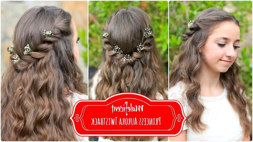 Princess Aurora Twistback | Inspireddisney's Maleficent | Cute Throughout Princess Tie Ponytail Hairstyles (View 23 of 25)