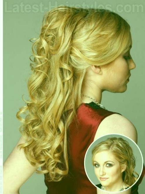 Prom Hairstyles For Long Hair Half Up Half Down 2014 Princess Prom With Formal Half Ponytail Hairstyles (View 24 of 25)
