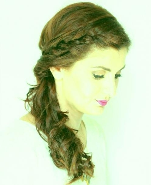 Prom Hairstyles Side Braid Braided Hairstyles Suitable For Prom With Regard To Brunette Ponytail Hairstyles With Braided Bangs (View 23 of 25)