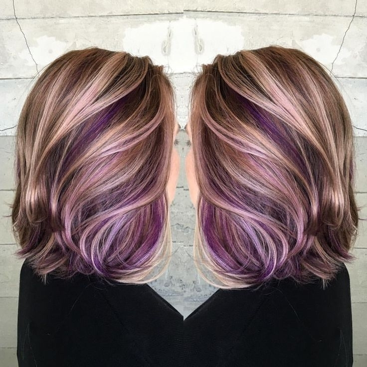 Featured Photo of Voluminous Platinum And Purple Curls Blonde Hairstyles