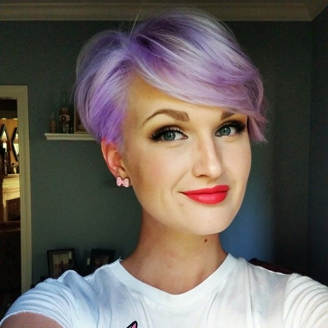 Featured Photo of Platinum And Purple Pixie Blonde Hairstyles