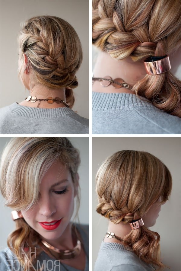 Quick Chic Side Ponytail French Braid Hairstyle For Long Hair With Side Pony Hairstyles With Fishbraids And Long Bangs (Gallery 10 of 25)