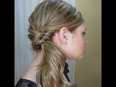 Quick Fancy Side Ponytail – Youtube Pertaining To Loose And Looped Ponytail Hairstyles (Gallery 14 of 25)