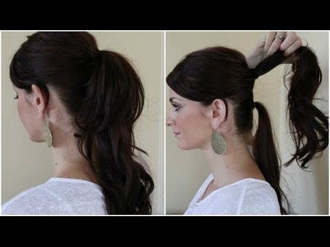 Quick Hairstyles – Double Ponytail – Youtube With Regard To Double Tied Pony Hairstyles (Gallery 7 of 25)