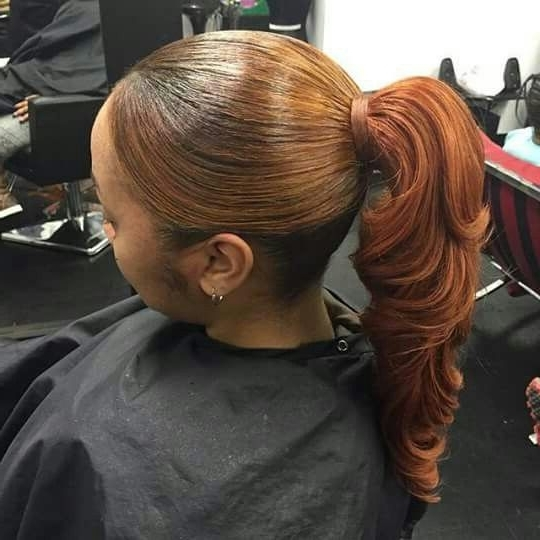 Quick Weave Pony Tail | Quick Bobs | Pinterest | Quick Weave, Pony Regarding Honey Blonde Fishtail Look Ponytail Hairstyles (View 22 of 25)