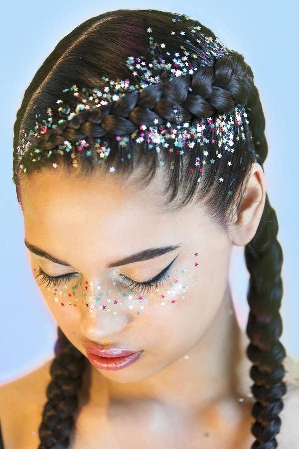 Rainbow Deity, Chunky Star Glitter *limited Edition   Hair Within Glitter Ponytail Hairstyles For Concerts And Parties (View 8 of 25)