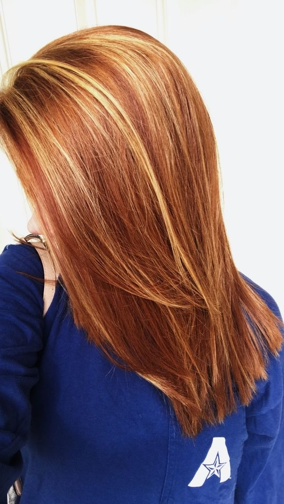 Red Highlights Ideas For Blonde, Brown And Black Hair For Light Copper Hairstyles With Blonde Babylights (View 15 of 25)