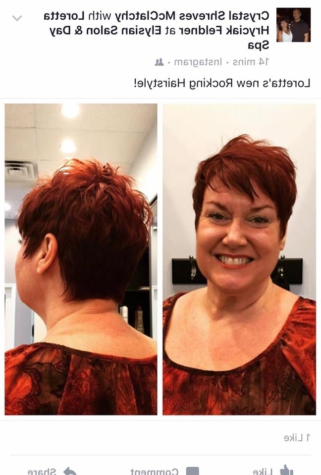 Red Pixie – Elysian Salon And Day Spa Throughout 2018 Ravishing Red Pixie Hairstyles (View 24 of 25)