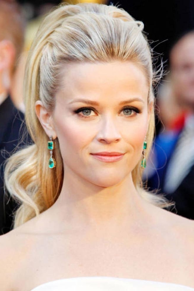 Reece Witherspoon In High Glam Ponytail – Viva Glam Magazine Intended For Glam Ponytail Hairstyles (View 22 of 25)