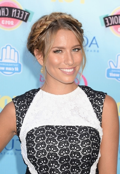 Renee Bargh's Wispy Fishtail Halo – Best Beauty At The Teen Choice Within Wispy Fishtail Hairstyles (View 25 of 25)