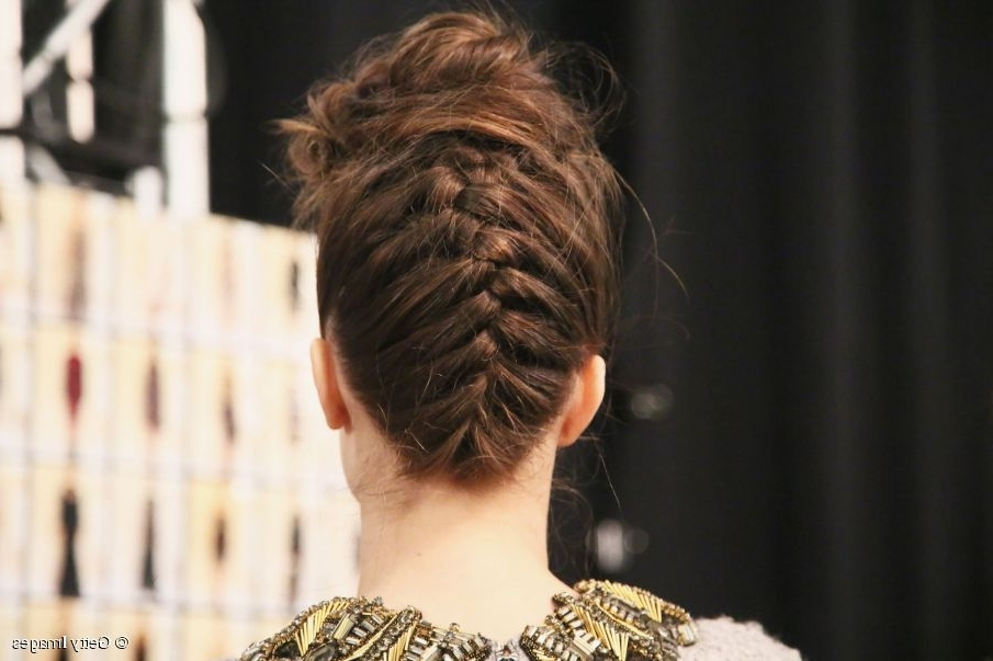 Reverse French Braided Updo Tutorial Intended For Reverse French Braid Ponytail Hairstyles (View 20 of 25)