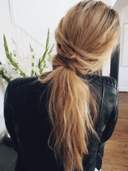 Romantic Messy Hairstyles For All Women – Pretty Designs Inside Messy Low Ponytail Hairstyles (View 9 of 25)