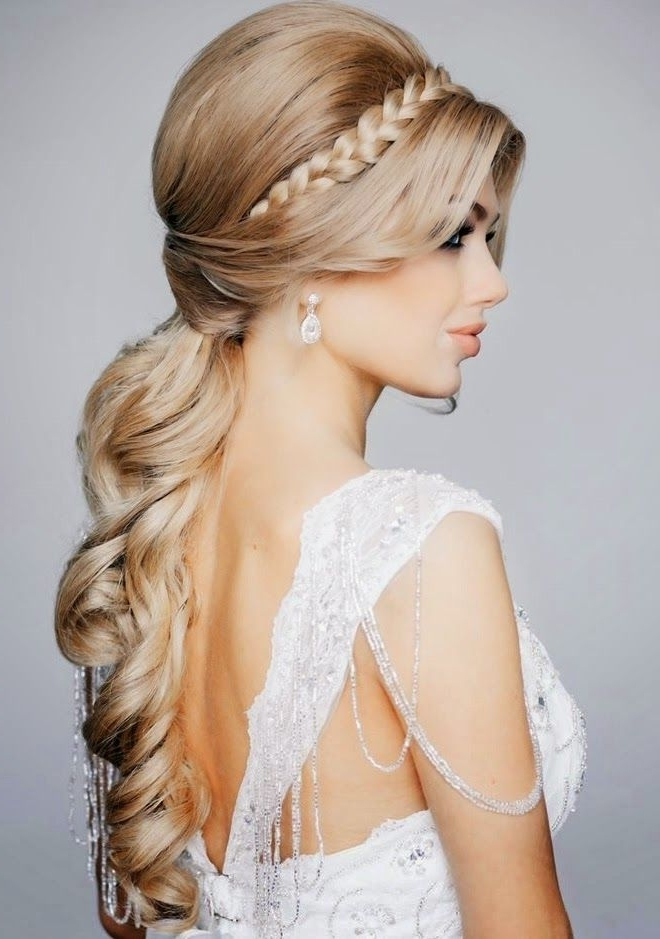 Romantic Princess Hairstyle Ideas For Brides & Girls – Hairzstyle For Princess Like Ponytail Hairstyles For Long Thick Hair (View 4 of 25)