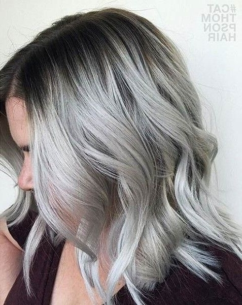 Rooted Silver | Pelo | Pinterest | 21St, Gray And Silver Ombre With Regard To Grayscale Ombre Blonde Hairstyles (View 9 of 25)