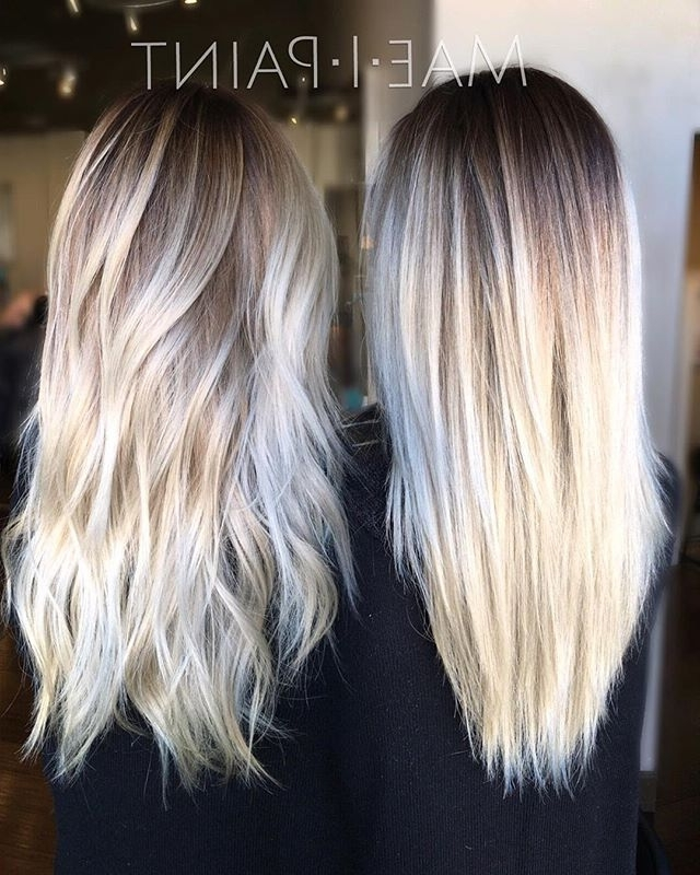 Rooty Platinum Refresh• | Hair | Pinterest | Hair Coloring, Hair In Balayage Blonde Hairstyles With Layered Ends (View 17 of 25)