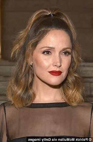 Rose Byrne's Hairstylist Created The Star's Chic, Half Up, Half Down Pertaining To Midi Half Up Half Down Ponytail Hairstyles (View 14 of 25)