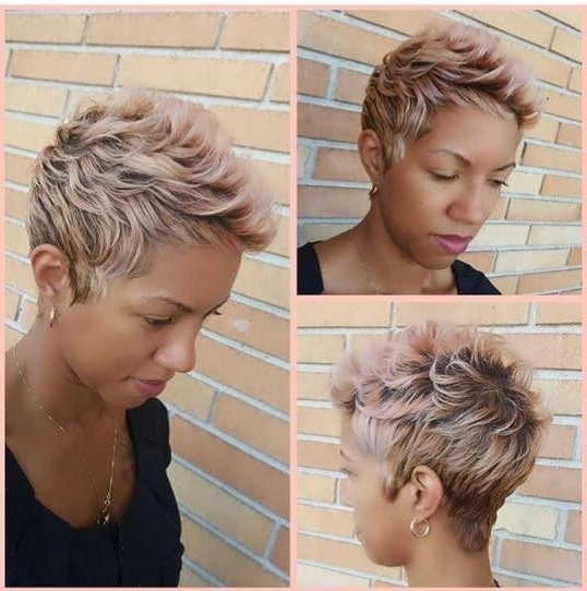 Featured Photo of Rose Gold Pixie Hairstyles