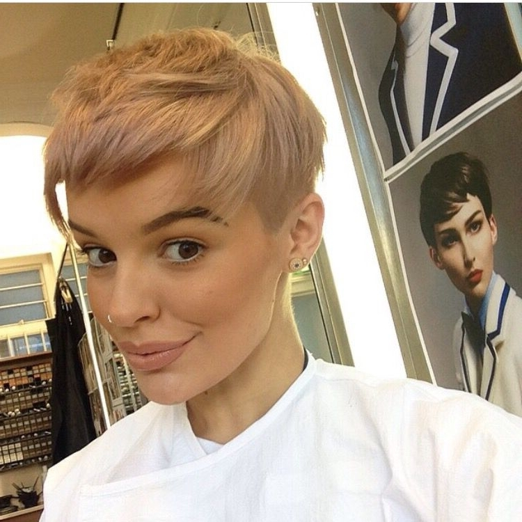 Rose Gold Pixie | S H O R T – M E D I U M C U T S In 2018 With Current Rose Gold Pixie Hairstyles (View 11 of 25)