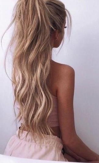 Rose Pink. Beautiful Hair. #ponytail (View 6 of 25)