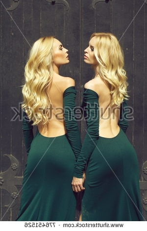 Royalty Free Young Pretty Women With Long Lush Curly… #468292325 Intended For Lush And Curly Blonde Hairstyles (View 24 of 25)