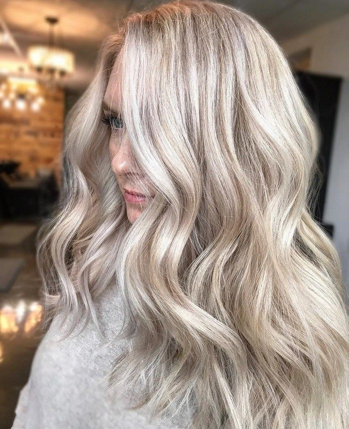 Sandy Pearly Blonde,blonde Hair Color With Highlights,blonde Hair Within Pearl Blonde Highlights (View 13 of 25)