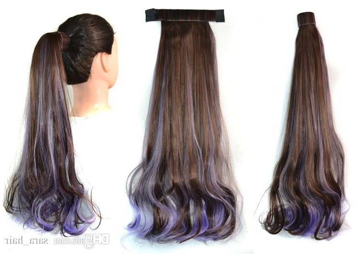 Sara 45Cm,18 Pat Circle Wave Curly Ponytail Hair Extension Ombre Within Ombre Curly Ponytail Hairstyles (View 11 of 25)