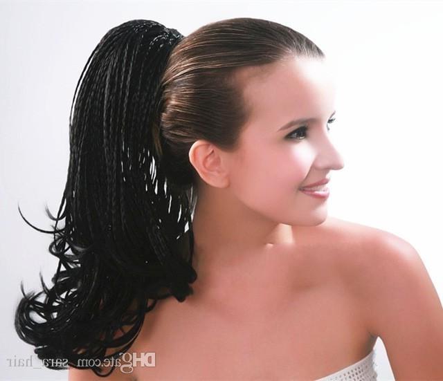 Sara Braiding Hair Drawstring Straight Micro Braids Ponytail Hair Intended For Micro Braid Ponytail Hairstyles (View 3 of 25)
