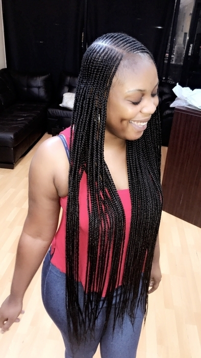 Schedule Appointment With Neat Pretty Braids Within Black Layered Senegalese Twists Pony Hairstyles (View 21 of 25)