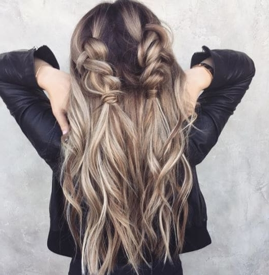Second Day Hair Inspiration That Are Anything But Dirty Throughout Ash Blonde Half Up Hairstyles (View 25 of 25)