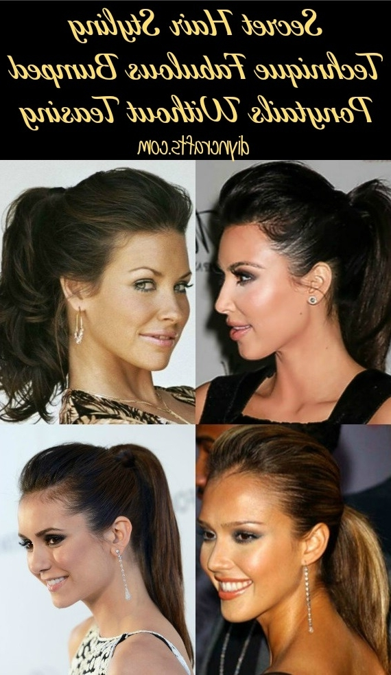 Secret Hair Styling Technique – Fabulous Bumped Ponytails Without For Poofy Ponytail Hairstyles With Bump (View 25 of 25)