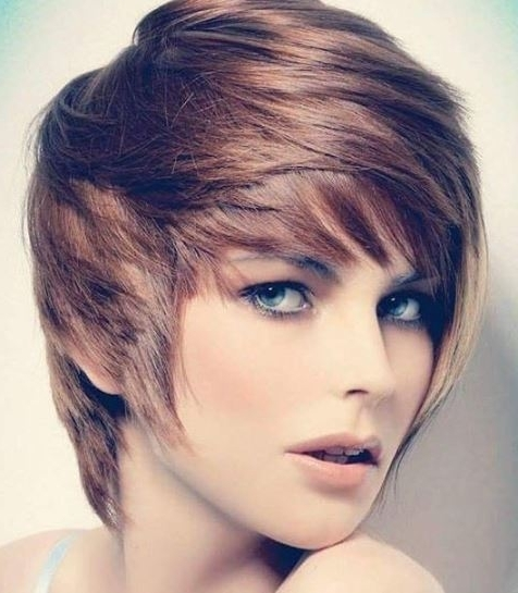 Shaggy Asymmetrical Pixie Cut For Round Face With 2018 Asymmetrical Long Pixie Hairstyles For Round Faces (View 9 of 25)