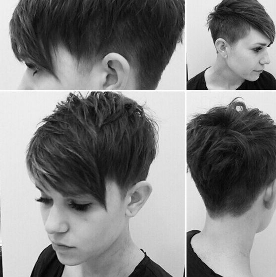Shaggy, Messy, Spiky, Choppy, Curls, Layered Pixie Hair Cuts With Regard To Current Choppy Gray Pixie Hairstyles (View 10 of 25)