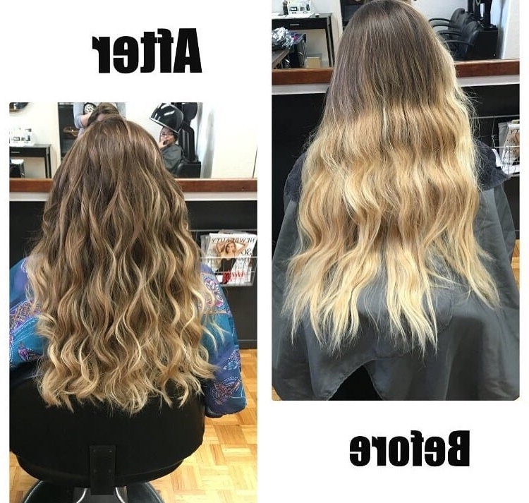 She Went From A Super Blonde Ombré To A More Subtle Ombre (View 21 of 25)