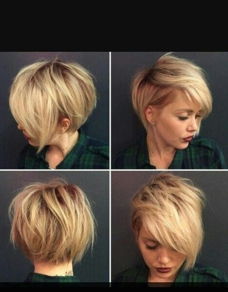 Short Blonde Asymmetrical Hair From All Angels (View 25 of 25)