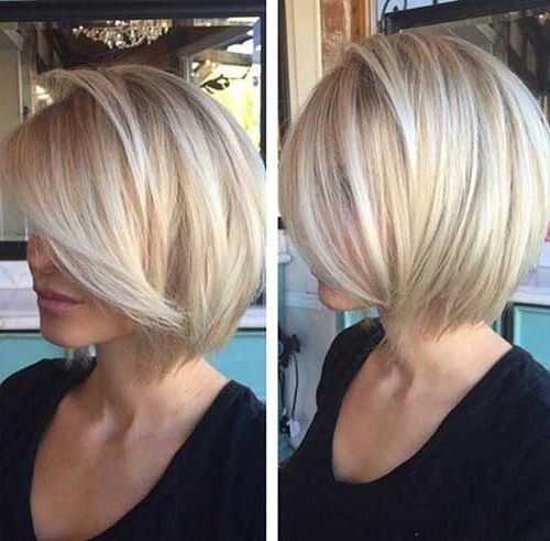 Short Blonde Bob Hairstyle | Haircuts Throughout Short Blonde Bob Hairstyles With Layers (View 19 of 25)